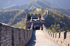 Great Wall of China. Mutianyu. Mutianyu (Chinese: 慕田峪; pinyin: Mùtiányù) is a section of the Great Wall of China located in Huairou royalty free stock image
