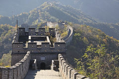 Great Wall of China. Mutianyu. Mutianyu (Chinese: 慕田峪; pinyin: Mùtiányù) is a section of the Great Wall of China located in Huairou royalty free stock photography