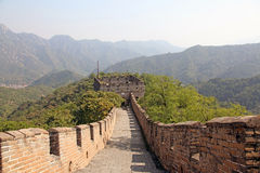 Great Wall of China. Mutianyu. Royalty Free Stock Photos