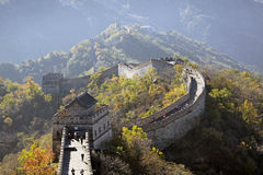 Great Wall of China. Mutianyu. Stock Images