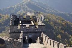 Great Wall of China. Mutianyu. Royalty Free Stock Images