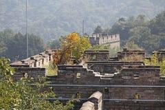Great Wall of China. Mutianyu. Stock Photo