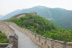 Great Wall of China at Mutianyu. Is the most famous Chinese tourist attraction stock photography