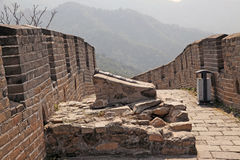 Great Wall of China. Mutianyu. Old gun Stock Photos
