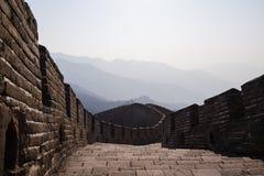 The Great Wall of China, Mutianyu section.  stock photo