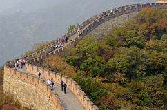 Great Wall of China, Mutianyu nr. Beijing Royalty Free Stock Photos
