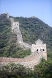 The Great Wall of China at Mutianyu. Royalty Free Stock Photos