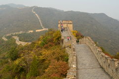 Great Wall of China at Mutianyu. Mutianyu Great Wall which winds along lofty, cragged mountains from the southeast to the northwest for approximately 2.25 stock images