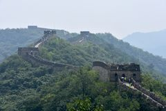 Great Wall of China at Mutianyu, Beijing, China stock photography