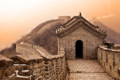 Great wall of China near Beijing Stock Photo