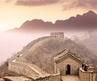 Great wall of China near Beijing Stock Image