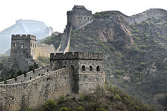 Great Wall of China. The Great Wall of China in the normal hazy sunlight Royalty Free Stock Photos