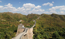 Great Wall of China, north of Beijing Stock Photo