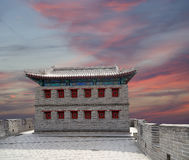 Great Wall of China, north of Beijing stock image