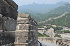 Great Wall of China. Northern China Great Wall with mountains Stock Photo