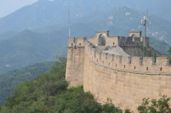 Great Wall of China. With numerous guard towers and mountains Royalty Free Stock Photography