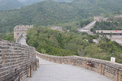 Great Wall of China. With numerous guard towers and mountains Stock Images