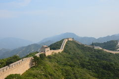 Great Wall of China. With numerous guard towers and mountains Royalty Free Stock Photos