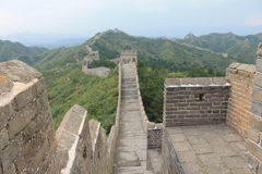 Great Wall of China. One day I walk the wall of china Royalty Free Stock Photos