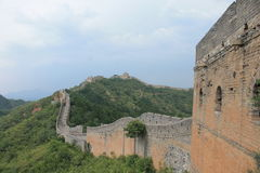 Great Wall of China. One day I walk the wall of china Stock Photography