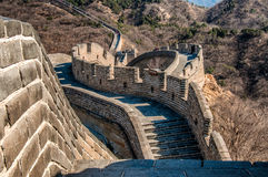 The Great Wall of China. Is one of the greatest sights in the world — the longest wall in the world, an awe-inspiring feat of ancient defensive architecture Stock Photography
