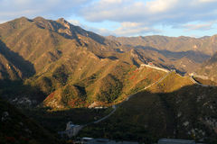 Great Wall of China. Over the mountain in Beijing stock photos