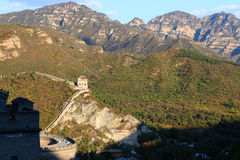 Great Wall of China. Over the mountain in Beijing stock photography