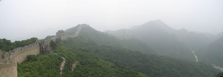 Great wall of China panorama Royalty Free Stock Image