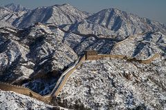 Great Wall of China Panoramic Royalty Free Stock Photos
