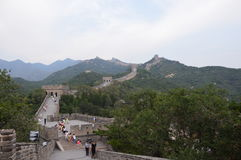 Great Wall of China. With people climbing Stock Image