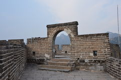 Great Wall of China. Ruins of a guard tower on the Great Wall Stock Images