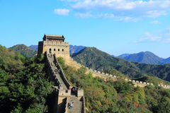 The Great Wall of China. A section of The Great Wall of China, in Badaling Stock Photography