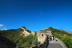 The Great Wall of China. A section of The Great Wall of China, in Badaling Stock Image