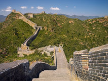 The Great Wall of China. A section of the Great Wall of China at Jinshanling in northeast China. The Jinshanling section of the wall was built around 1570 during Royalty Free Stock Image