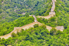 Great Wall of China, section Royalty Free Stock Photography
