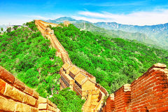 Great Wall of China, section Stock Images