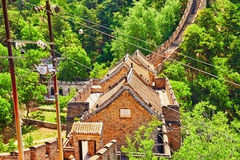 Great Wall of China, section Royalty Free Stock Photos
