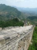 Great Wall of China. A section of 'wild wall' along the Great Wall of China with a large section in the foreground (Portrait Royalty Free Stock Photos