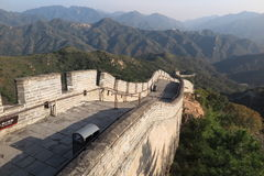 The Great Wall of China. Is a series of fortifications made of stone, brick, tamped earth, wood, and other materials, generally built along an east-to-west line Royalty Free Stock Image