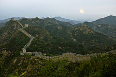 The Great Wall of china. Is a series of fortifications made of stone, brick, tamped earth, wood, and other materials, generally built along an east-to-west line Royalty Free Stock Photo