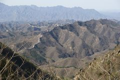 Great Wall of china simatai Royalty Free Stock Photo