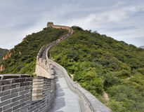 Great Wall in China. Snaky Road on the Great Wall in China Stock Photos