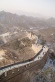 The Great Wall Of China With Snowy Mountains In The Background Stock Images