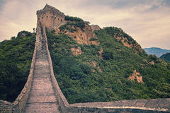 Great wall in China. Spectacular great wall in China Stock Photo