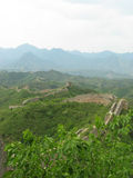 Great Wall of China Streching Out. A view of the Great Wall of China stretching ahead Royalty Free Stock Photography
