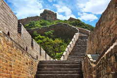 Great Wall of China in Summer Royalty Free Stock Photos