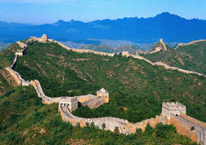 Great Wall of China. In Summer Royalty Free Stock Images