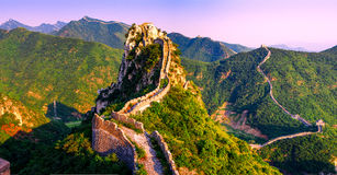 Great Wall of China. In summer royalty free stock image