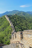 Great Wall of China in summer. Royalty Free Stock Photos