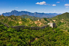 Great Wall of China in summer day, Jinshanling royalty free stock photography